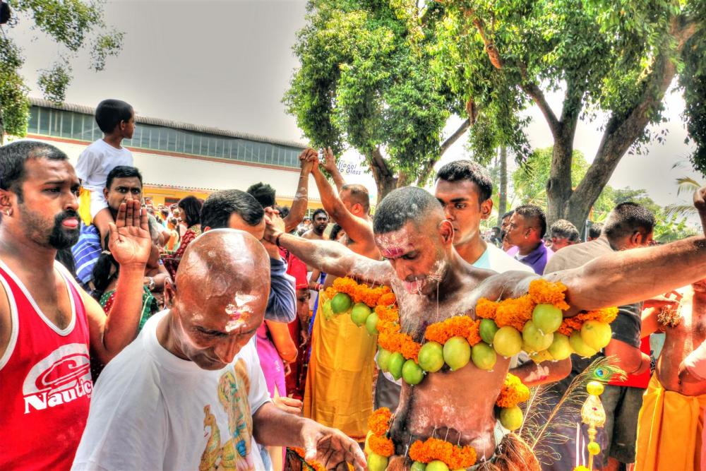 Thai Poosam Kavady - the big day 1 (4/6)