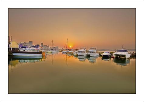 Wilson's Wharf sunrise (Large)